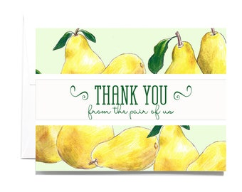 Thank You Pear Note Card