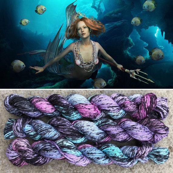 Mermaid 20g Miniskein, merino nylon sock yarn