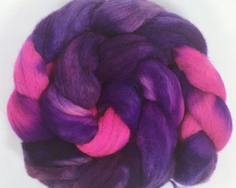 Orchids - hand dyed combed tops 100g spinning felting
