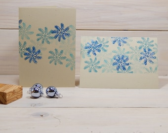 Delicate Snowflake Olive Wood Stamp 4 sizes