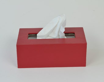 Large Kleenex Box Cover (DARK color selection) / Large Tissue Box Holder (Wooden)