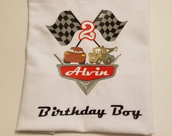 CARS birthday toddler boy shirt