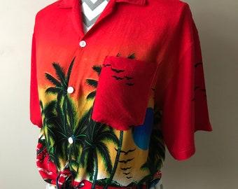 80s 90s Hawaiian holiday summer shirt