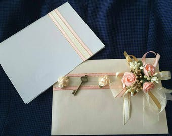 Wedding card and envelope for money gift,  checks,  vouchers