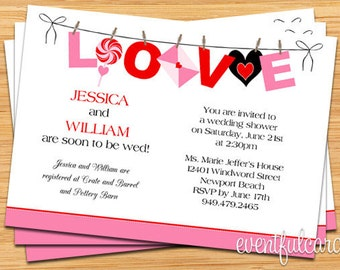 Love Wedding Shower Invitation