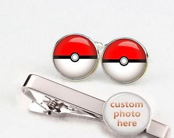 Customized Poke Cuff links, Personalized Cuff Links, Custom Wedding Cufflinks, ball cuff links, Custom Cufflinks, Custom Tie Tacks, tie clip