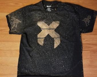 X Bleach Dye T-Shirt