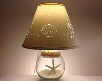Small Fillable Seashell Lamp-Small Lamp-Fillable Lamp-Seashell Lamp-Add your