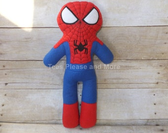 Spiderman Inspired Fleece Doll