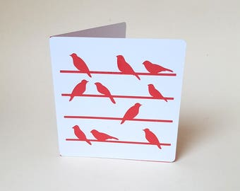 "The card ""Birds"" red envelope"