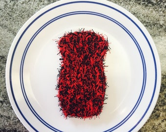 Black and Red Dish Scrubby