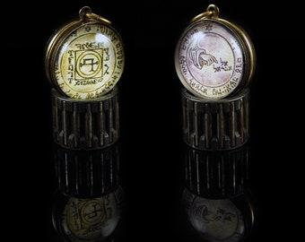 Custom Pentacle Talismans -- Brass Pendants with 16 Designs
