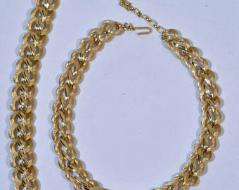 Vintage Trifari Choker Necklace and Bracelet Set