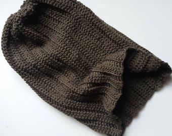 Ridgeway Hat - Crochet Pattern for Ribbed Slouchy Hat PDF
