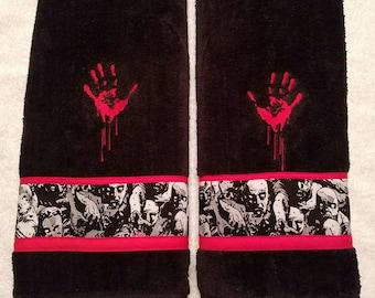 Zombie Bathroom Hand Towel Set