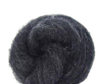 Corriedale Bulky Wool Roving - Thunder - 4 ounces