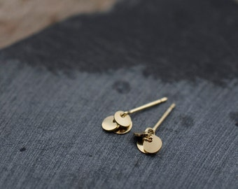 Mini Spangles studs earrings in vermeil or solid silver