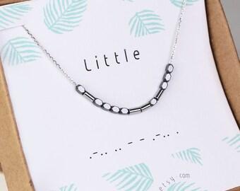 Big little sorority, Morse code necklace, Morse code bracelet, necklace custom, little sister gift, little sister necklace, sterling silver