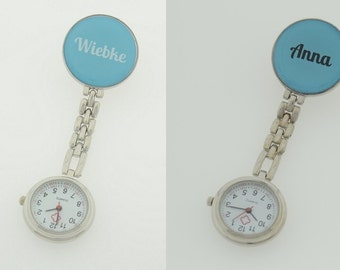 Handmade personalised watch for nurses - Nurse watch with your Name