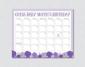 Purple Baby Shower Birthd...