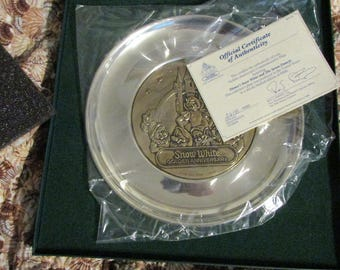 Snow White Golden Anniversary Commemorative Plate w/box & COA