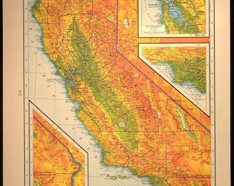 Wooden topographic map of California 3d map wood geographic