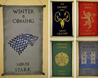 Other Houses - Large Hand Painted Canvas Banners  - Game of Thrones