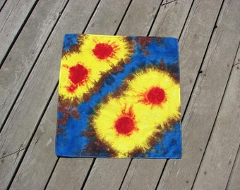 Tie Dye Bandana - Retro Sunbursts - Festival Hippy Wears