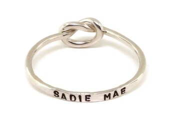 Sterling Silver Knot Ring Personalized Jewelry - Love Knot Ring Mothers Day Gift - Celtic Ring