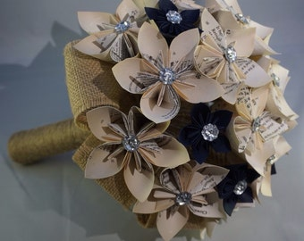 Paper Bridal Bouquet ...paper bouquet made from book pages. Elegant and alternative bouquet