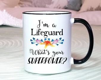 Lifeguard Gift, Lifeguard Mug, Lifeguard Superpower mug, Lifeguard Certification Gift, Lifeguard Training Gift, Lifeguard Graduation Mug