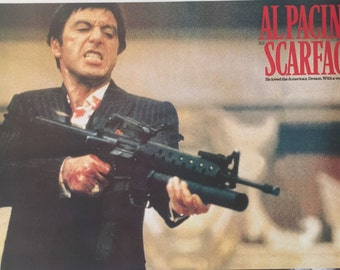 SCARFACE AL PACINO Bloody With Gun Poster 24 X 35