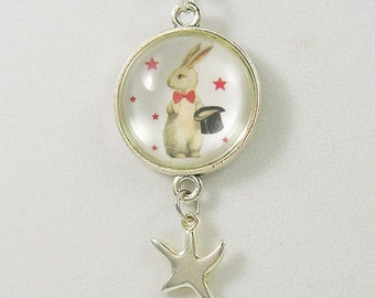 Magic Rabbit Pendant with Star charm / Necklace