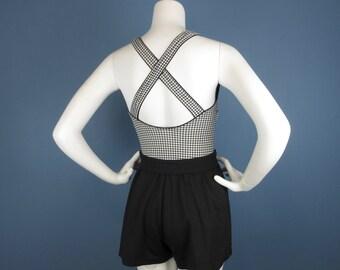 Vintage 60s Jantzen Swimsuit / Romper, Fun in the Sun, Sz S