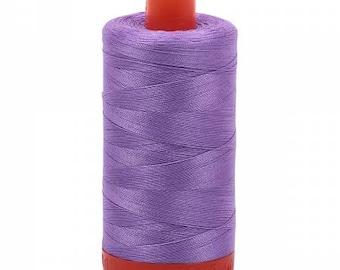 Violet Aurifil Mako Cotton Thread Color 2520, 50 wt, 1300m, 1 spool