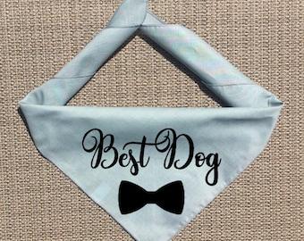 Best Dog Bandana, Wedding Dog Bandana, BridesDog Bandana, Dog of Honor, Wedding Save the Date, Parents Are Getting Married, Engagement Ann