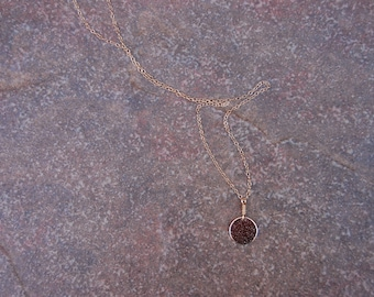 Tiny Gold Filled DIsk Necklace