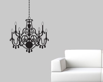 Chandelier wall decals chandelier decal wall decal room chandelier wall decal elegant wall sticker chandelier decal fancy wall decor aloadofball Choice Image