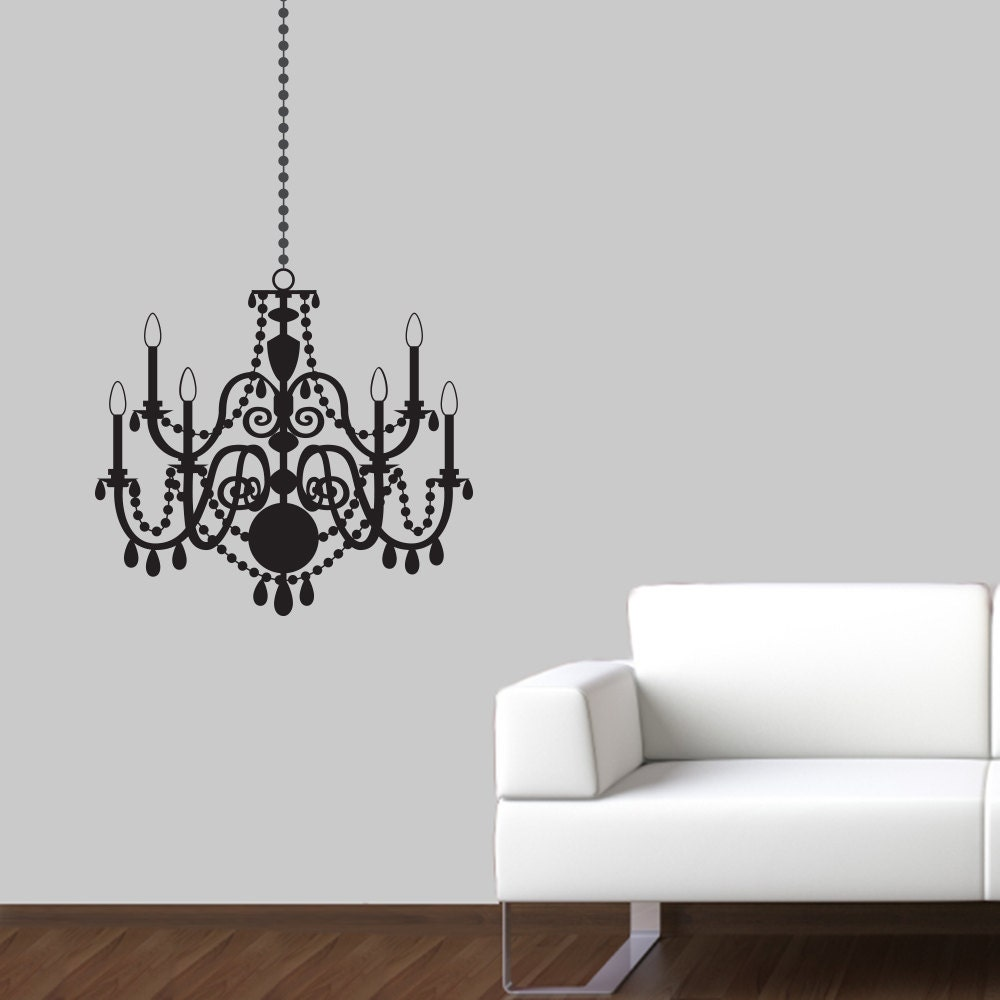 Chandelier wall decal elegant wall sticker chandelier zoom arubaitofo Choice Image