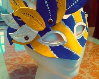 LSU Leather Mask - college - football - mardi gras - carnival