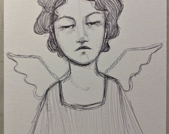 Original Pen sketch #10 angel