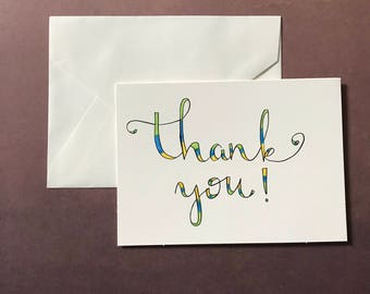 5 Pack of Thank You Cards