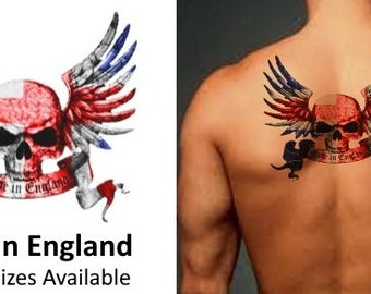 Made In England - Temporary Tattoo