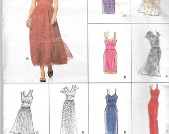 Vogue 2316, Vogue Easy Options Pattern, Misses Dress Patterns, Womens Summer Dress,  Sewing Paterrn, Size 12-14-16, Uncut, Sun Dress