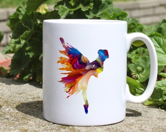 Ballerina mug - Ballet mug - Colorful printed mug - Tee mug - Coffee Mug - Gift Idea