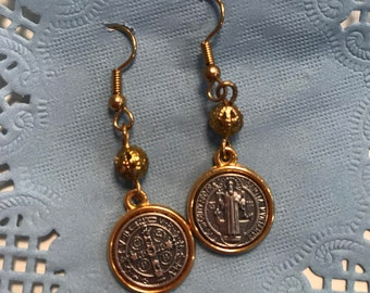 St. Benedict Dangle Earrings