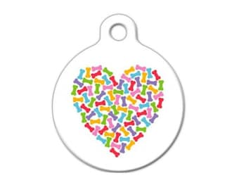Heart of Bones Engraved Pet ID Tag