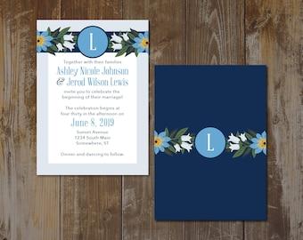Flower Wedding Invitation (Set of 50)