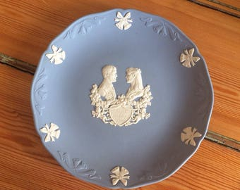 Vintage Wedgwood blue Jasperware Royal Wedding Commemorative Plate