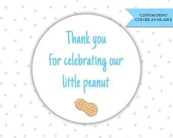 Little peanut baby shower stickers - Baby shower stickers - Baby shower labels - Baby shower favor labels - Peanut baby shower (RW074)